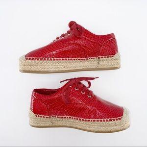 MM6 Platform Espadrille Sneaker, Size 37/7